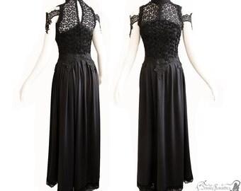 Gown Art Nouveau, black dress, goth, gothic, victorian, Somnia Romantica, size small - medium, see item details for measurements