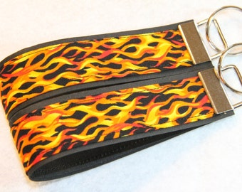 Key fob, Key chain, Wristlet - Flames - Select One