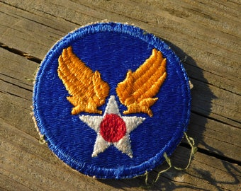Original WW2 Era US Army Air Corps Wings and Star Uniform Insignia Patch