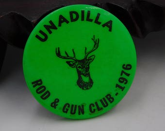 Vintage Unadilla NY  Hunting and Fishing Gun License Badge Dr29