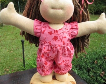 Doll Clothes Girl, hand made one-piece Jumper, fits 15 inch Waldorf style dolls