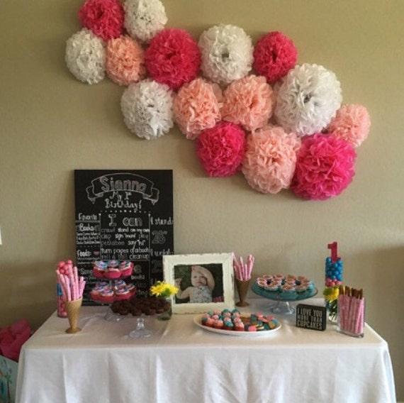 15 tissue paper pom pom wall flowersoose your colorsrsery il570xn mightylinksfo