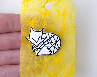 Fox Shrink Plastic Pin