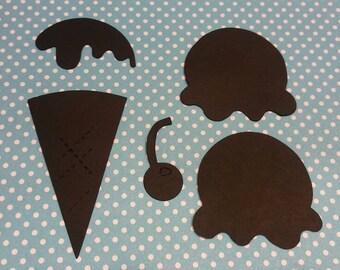 Ice Cream Cone Die Cut 10CT- Die Cut- Cutout- Custom Colors Available