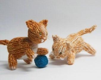 Orange Cat, Knit Cat, Cat Nursery, Kitty Nursery Decor, knit animal, Gender Neutral Nursery, Orange Tabby Cat, Cat Soft Toy, Kitty Stuffie