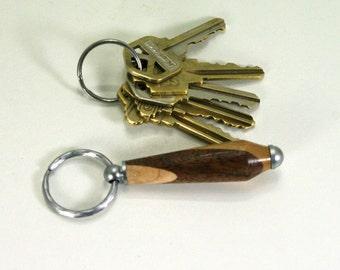 Hand Turned Mixed Hardwood Key Fob Keychain from BlackWater Workshops