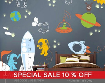 Space Wall Decal - Kids Wall Decor Playroom Decals