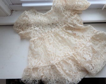 1950s Lace Toddler Dress