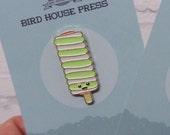 Retro Lolly Ice Enamel Pin Badge - Twister Lolly
