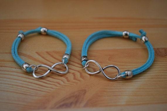 Girl bracelet,friendship bracelet, kids bracelet,infinity bracelet,infinite bracelet,suede bracelet,kids jewelry,girl jewelry,friendship