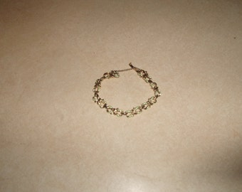 vintage bracelet silvertone blue enamel bows