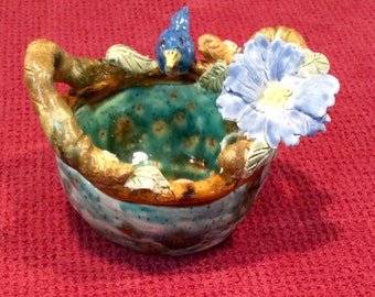 Little blue bird bowl