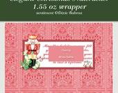 Printable candy bar wrapper 1.55 oz bar, Elegant Nutcracker wrapper