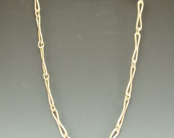P707- 14k Yellow Gold Handmade Chain- One of a Kind