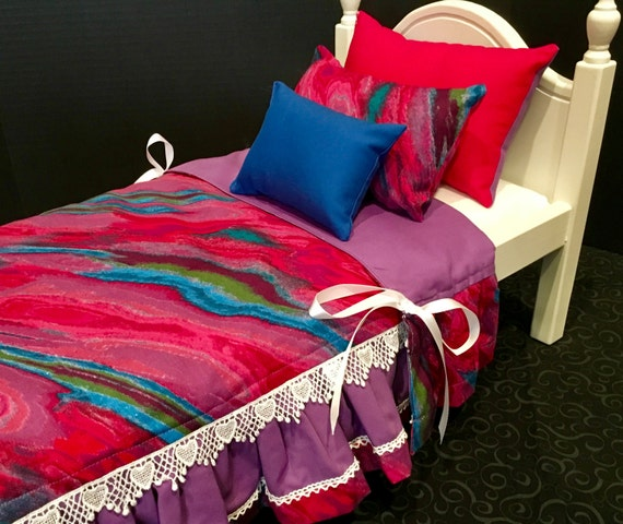 Doll bedding only american girl hot pink by bedsandthreads - Hot pink and blue bedding ...