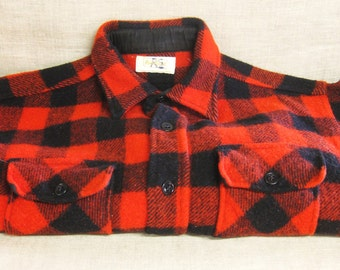 Bufflo Plaid Jacket , Red and Black , Plaid , Mens Jacket , Fall Coat , Wool , Red Plaid , Rural Look , Hipster , Jackets , Coats ,Outerwear