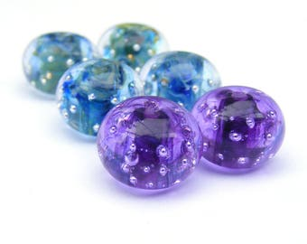 RESERVED - custom listing of three matched pairs of spankle beads, 6 beads in total