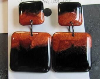 Copper Chunky Earrings - Statement Earrings - Copper Elegance Collection - Copper Earrings