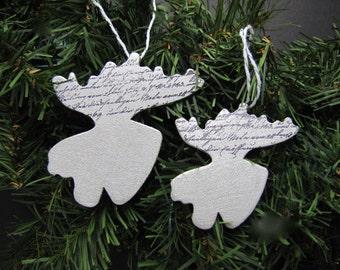 Moose Christmas ornaments moose holiday moose ornaments gift embellishment tree decoration