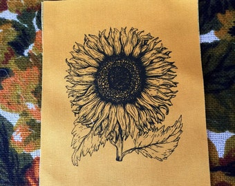 Sunflower Patch- Screen Printed Fabric