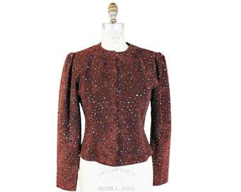 Bejeweled Suede Jacket