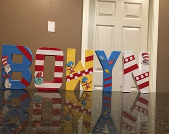 Dr Seuss Custom Letters  - price is per letter