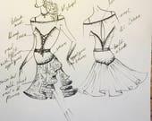 Tango dress custom made order