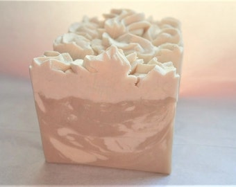 Sexy Sandalwood Goat's Milk Soap with silk - great summer scent