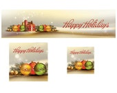 Christmas Shop Banner Cover Photo Shop Icon and Avatar Premade Holiday