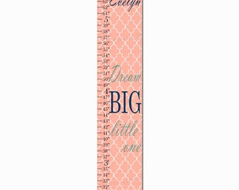 Dream Big Little One Canvas Growth Chart Height Chart Ruler