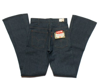 1970's NOS Levi's 646 Bell Bottom Denim Jeans