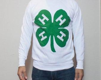 SALE SML-MED | 70's/80's Handmade 4H Sweatshirt on Panelli Crewneck Soft & Thin