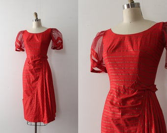RARE vintage 1950s dress // 50s Filipino gown