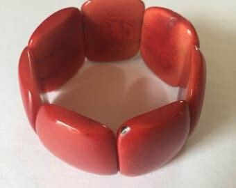 Tagua Bracelet/ Boho Accessories/ Vegetable Ivory