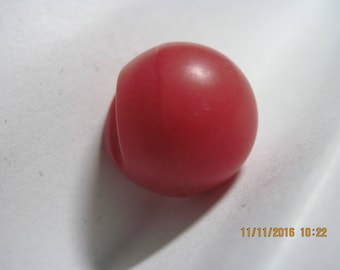 ANTIQUE 1900'S Red Ball Realistic Thick Chunky Solid French/Euro Bakelite/Celluoid Button ...#788b