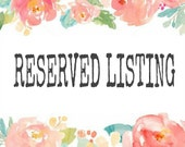 Reserved for Dedra Bailey