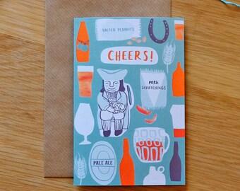 Illustrated Cheers Pub Card