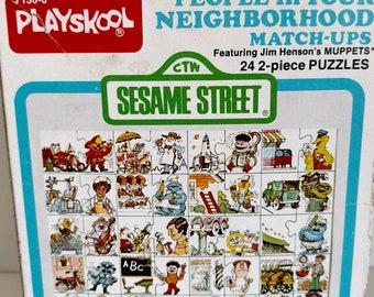 1977 Playskool Sesame Street match-ups