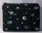 "GLOW in the DARK, Pipe Pouch, Space Pipe Case, Glass Pipe Bag, Planets, Padded Pipe Pouch, Stoner, 420, Smoke Accessory, 7.5"" x 6"" - X LARGE"