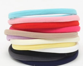 Wholesale Nylon Headbands, Nylon Headbands, Soft Headbands, One size fits all, Skinny Headbands, Headband supplies, Bulk, DIY, you pick