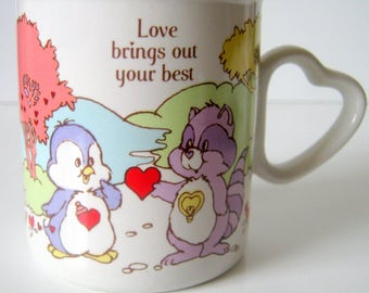 Vintage Care Bear Cousins Mug, Love brings out your best, American Greetings