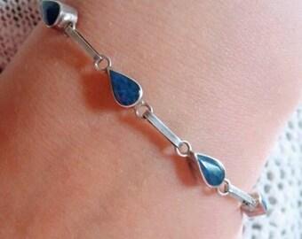 30s Reversible Bracelet in 950 Silver