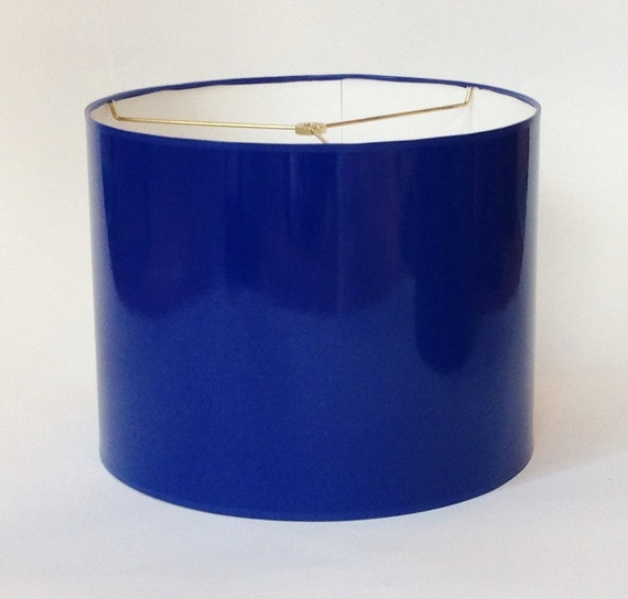 High Gloss Cobalt Blue Lamp Shade 14 Diameter X 11