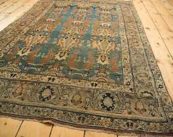 4x6 Antique Jalili Tabriz Rug