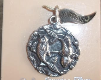 Murphy's Sunrise Silver Sterling Pendant with Stunning Fish Duo