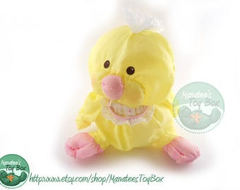 Fisher Price Yellow Chick / Duck Puffalump: Vintage 1980s