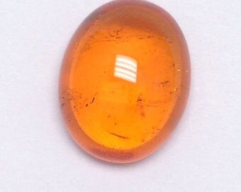 Solitaire Mandarin Garnet Oval Cabochon, loose gemstone, loose cabochon, orange gemsotne