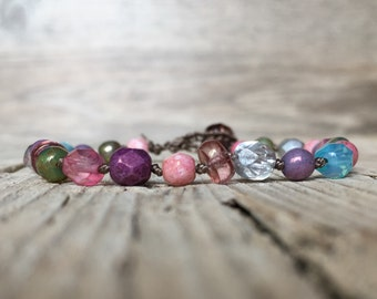 Hippie Beaded Stackable Bracelet - artisan bracelet - yoga boho - boho bracelet - hippie bracelet - beaded bracelet