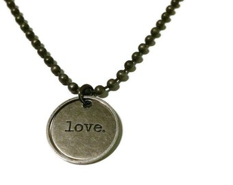 Word necklace love