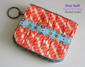 Easy to sew | card wallet pattern | pleated purse pattern | wallet sewing pattern | purse pattern | tutorial | digital PDF sewing project